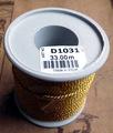 Шнур золото 1,8мм